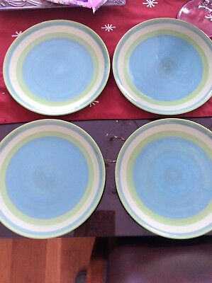 Southern Living At Home Gail Pittman Provence Banded Dinner plates lot of 7