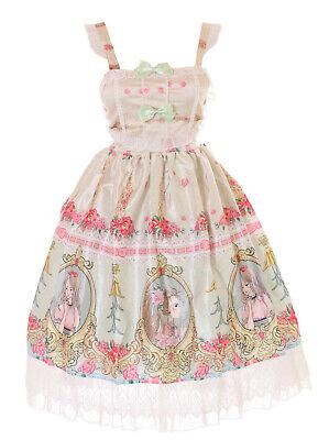 JSK-62-2 Noble Verde Princesa Espejo Rosas Pastel Vestido Lolita Cosplay Disfraz