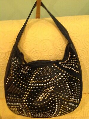 Abro Black Soft Leather Shoulder Bag Excellent Cond. for sale  Shipping to Canada