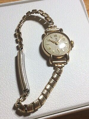 A Rare Vintage 9ct Solid Gold Rolex Tudor Royal Ladies Watch. Working Well.