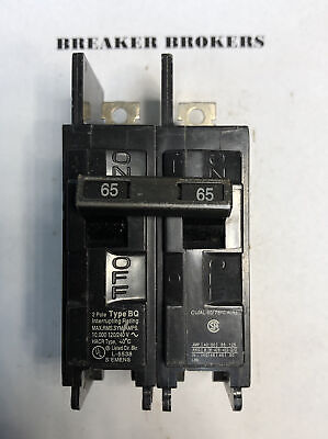Siemens Bq2b065 Circuit Breaker 2 Pole 65 Amp 240v New Without Box Ships Today