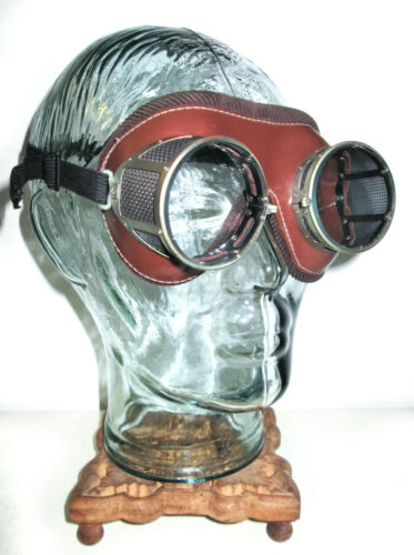 Antique American Optical NFA Goggles VTG National Foundry Safety Glasses Cool AO
