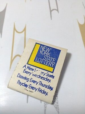 Vintage New Unstruck Nys New York State Lottery Matchbook