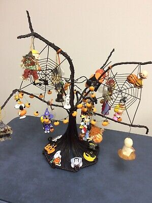 Wired Halloween Tree Decorated With Hallmark Ornaments And More