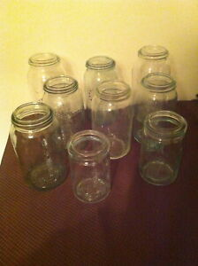 Crown CANNING JARS with GREENISH glass HUE