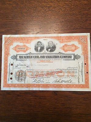 Lehigh Coal And Navigation Co Dated 1946 50 Shares Invalid Share Certificate