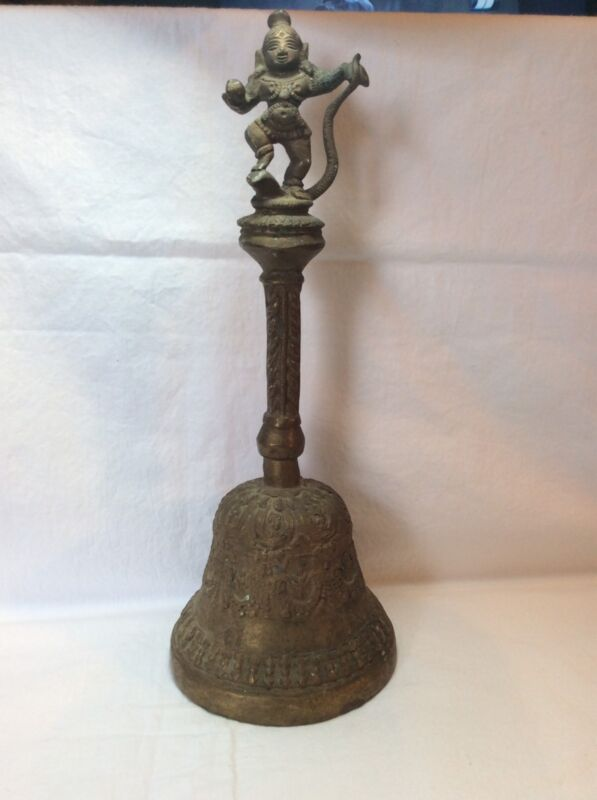 Antique Hindu Krishna Balakrishna Bronze (?)Temple Bell