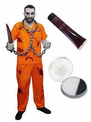 Halloween Fancy Dress Escape (ADULTS ZOMBIE PRISONER CONVICT HALLOWEEN ESCAPED PRISONER FANCY DRESS COSTUME)