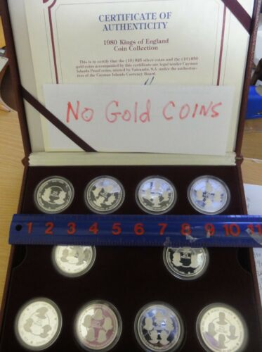 1980 Cayman Islands 10 Sillver Proof Coin Set~ All 37 Kings of England