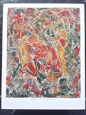 Jackson Pollock PRINT Vintage 2006 Abstract Sounds Grass Art Croaking Movement
