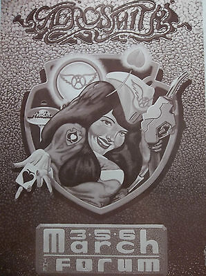 1990 Aerosmith Original Concert Poster Los Angeles Forum