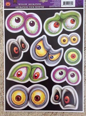 Static Window Clings Halloween Spooky Eyes Vinyl](Halloween Vinyl Clings)
