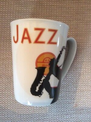 Usado, JAZZ CLUB PORCELAIN MUG  ART IN MOTION MARCO FABIANO SAXOPHONE  segunda mano  Embacar hacia Spain