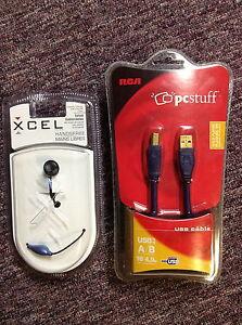 Cable USB et Ecouteurs