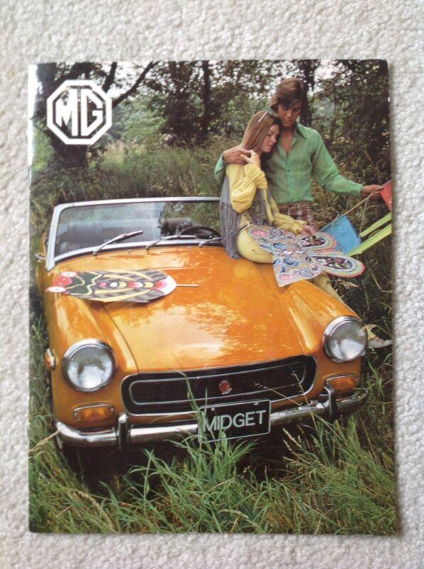 VINTAGE 1971 AUSTIN MG MIDGET DEALER BOOKLET!