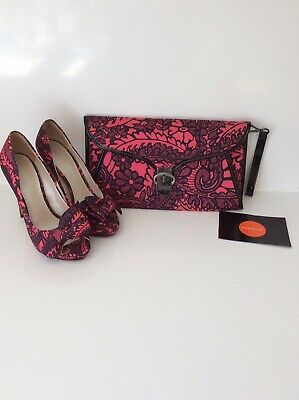 Karen Millen Shoes Size 5/38 And Matching Bag Used Once Cost Over £200 Together.