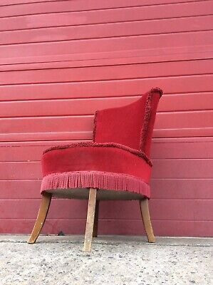 Vintage Early Century Chair, Living Room Seat Retro Antique, Collectable Project