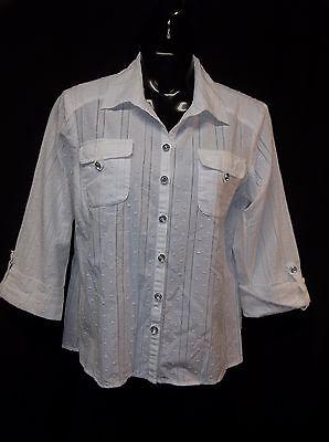ERIN LONDON 3/4 Sleeve Blouse Top Shirt Women's SIZE 8
