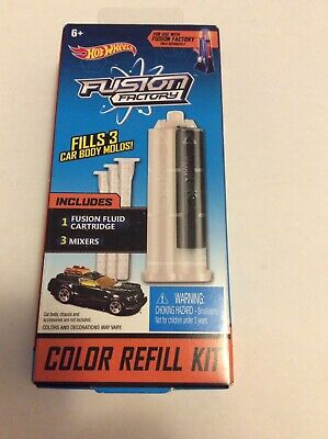 Hot Wheels Fusion Factory Color Refill Kit, Black NEW in box Fast Shipping