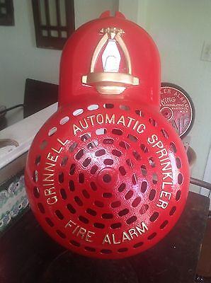 **L@@K**Huge Antique Cast Iron 1920'S Grinnell Sprinkler/Fire Alarm Bell Cover**