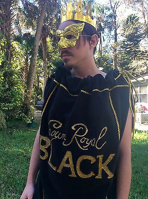 Crown Royal BLACK Bag Costume Unisex Special costume Halloween Cosplay