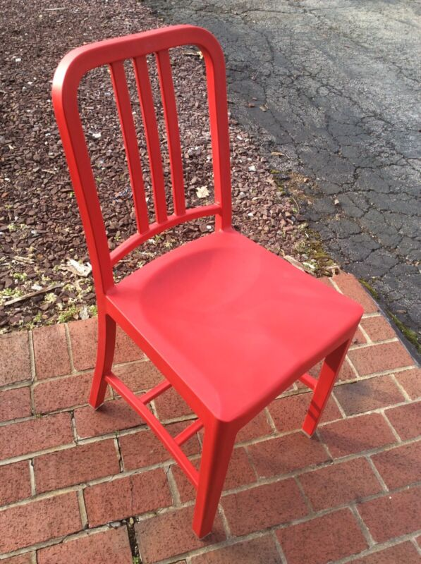 Emeco / Coke 111 Navy Chair In Red - Very Good