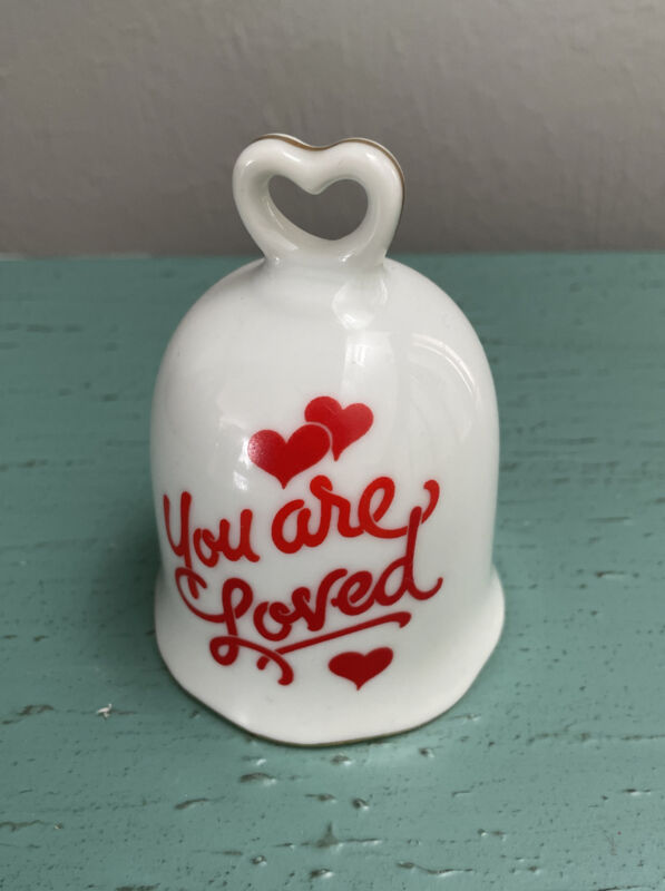 """Designers Collection LOVE TALK Genuine Porcelain Bell """"You Are Loved """"Japan"""