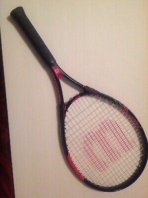 Wilson HOPE Tennis Racket Black Pink Breast Cancer Awareness 4 And 1/4,  2 Wilson Hope Tennis Racket