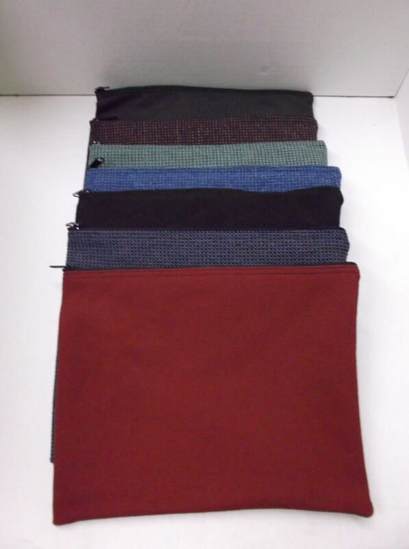 5 Assorted Brand New Large 13x10 Canvas Bank Deposit Money Bags Tool Organizer