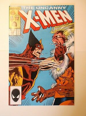 THE UNCANNY X-MEN #222 OCTOBER 1987 WOLVERINE VS SABERTOOTH NM NEAR MMINT 9.4