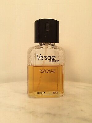 Vintage VERSACE L' HOMME Eau De Toilette Spray 3.2 Oz 100ml 70% Full Old Formula