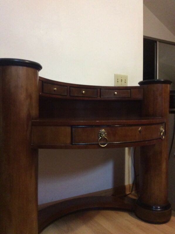 Century Biedermeier  Curved Writing Desk