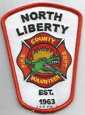 """Texas fire patch 3/"""" x 4/"""" size North Libery County 1963"""