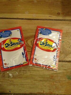 Lot Of 2 Dr Seuss Sticky Notepads Nip