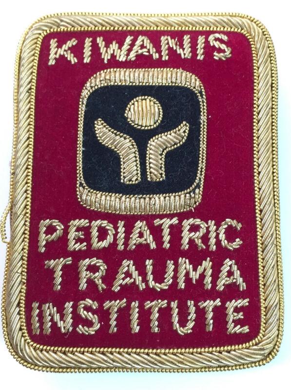 VTG Kiwanis Pediatric Trauma Crest Patch Gold & Silver Bullion Treated