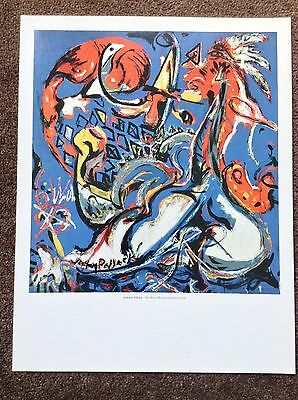 Jackson Pollock PRINT Vintage 2006 Abstract Expressionist Art Moon Woman Cuts