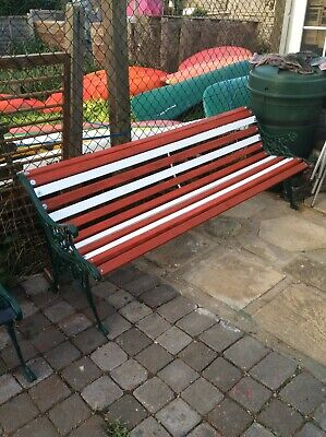 6FT REFURBISHED CAST IRON GARDEN BENCH (6 Foot)(Cash Only)(no PayPal) Furniture