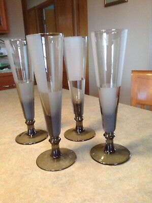 Nautica Frost Block Champagne Flutes Set Of Four (4).