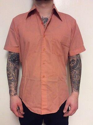 Vintage 1970s Western Style Marlboro Ciggarette Shirt Size Medium ()