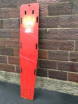 Vintage Red Wood Emergency Rescue Wood Spine Board - 16 X 75 - Very Good