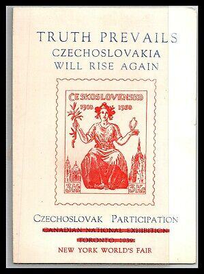 GP GOLDPATH: CZECHOSLOVAKIA POST CARD 1939 _CV685_P06