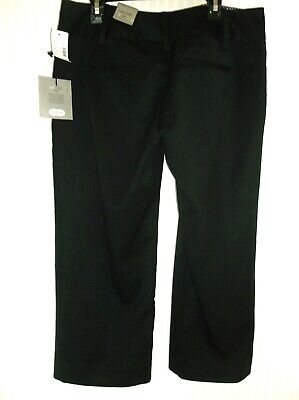 NWT-$29- MAURICE'S-Black Poly/Stretch Relaxed Classic Fit Capri Pants -Size-3/4* Fit Poly Capri