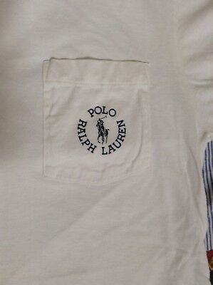 Vtg Polo Ralph Lauren vintage pocket t shirt Made in USA M circle logo 80s 90s
