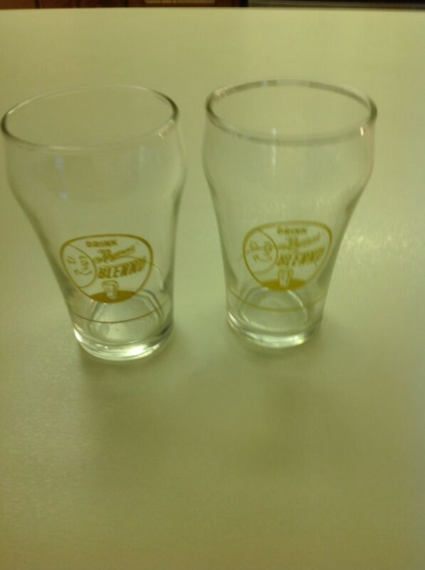 Two Reymer,s Blennd Soda Glasses With Syrup Lines. Scare