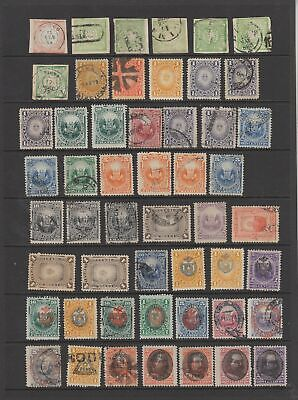 Peru early collection, 83 stamps