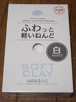 daiso japan Soft clay Lightweight Modeling Air Dry samon White  f/s