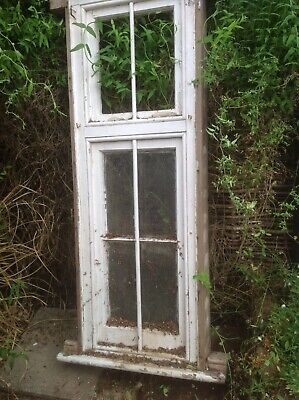 Beautiful Old Timber  Window, With Metal Bar Very Solid And  Heavy