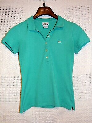 Women's Lacoste Polo Shirt Green Size 38 US Small