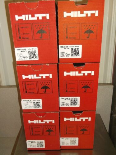"""Hilti Gx 120 Pins & fuel cells mix case 3 boxes 3/4"""" & 3 boxes of 1/2"""" free ship"""
