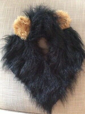 NEW, Scar, Lion King Headdress, Fancy Dress, Long Luxury Fur Fabric On Band.